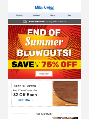 End Of Summer Blowouts ❯❯