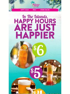 Bahama Breeze - 🍹It's Happy Hour!