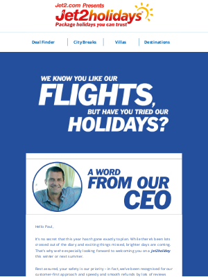 Jet2 (UK) - ✈ £60 voucher from our CEO inside…