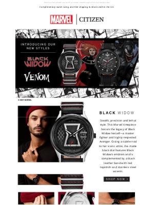 Citizen Watch Company - NEW Marvel from Citizen | Black Widow & Venom