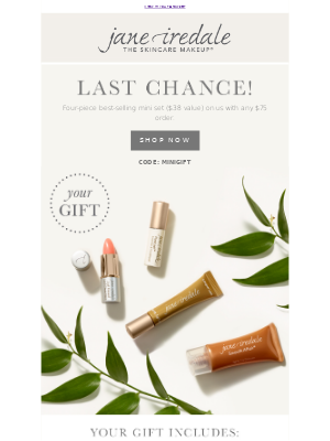 jane iredale - Ends Today! Best-Selling Mini Set On Us