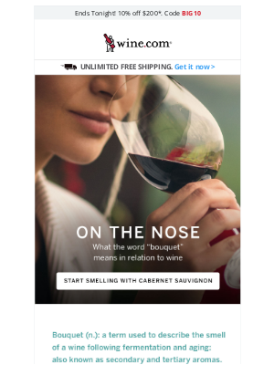 Wine - Stop & Smell The Cabernet + Save 10% On $200