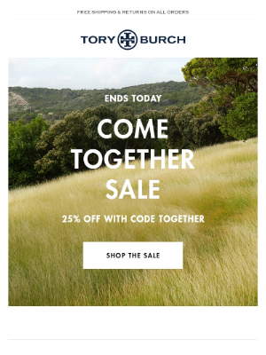 Come Together Sale ends today