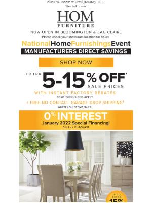HOM Furniture - National Home Furnishings Event