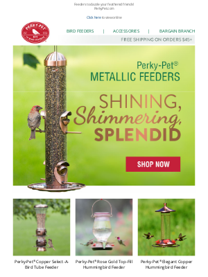 Perky Pet Feeders - All That Glitters…