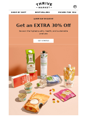 Thrive Market - Last chance to get an extra 30% off!