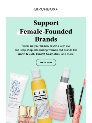 Shop Female Founded Brands at Birchbox ♀️