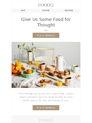 Food52 - Help us make Food52 your favorite place to be.