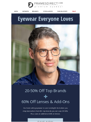 FramesDirect - Save 20-50% on BEST SELLERS from 80+ Top Brands