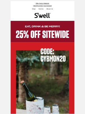 S'well Bottle - Cyber Monday Extended! 25% OFF + Free Bottle