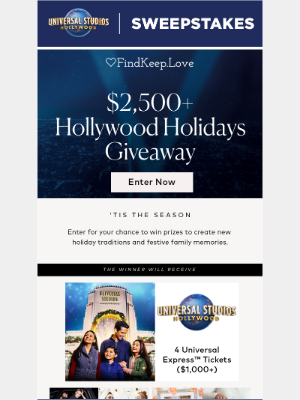 Hollywood Holiday Sweeps!