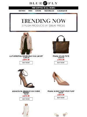 Bluefly - Trending Now + Shop Clearance 70-90% OFF!