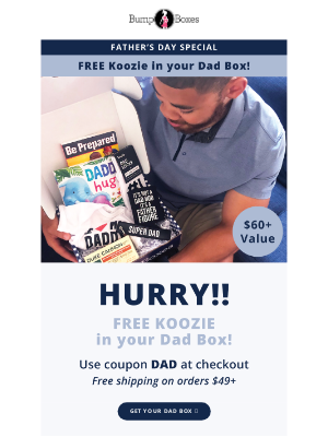 Bump Boxes - This is a Dad favorite!! Yup, we pamper Daddy, too.