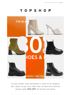 Topshop (UK) - 30% off shoes and boots!