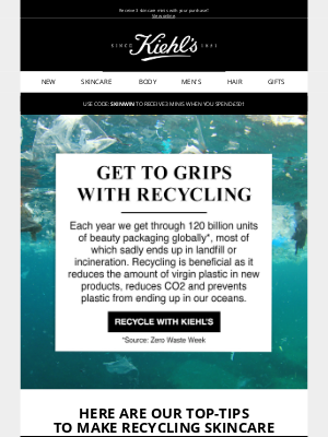 Kiehl's (UK) - Our top tips to recycle your Kiehl's products