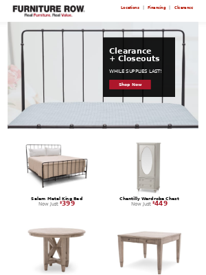 Clearance + Closeouts