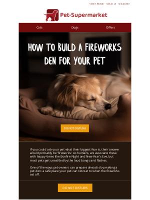 Pet-Supermarket (UK) - Building the perfect den for your pet 🌠