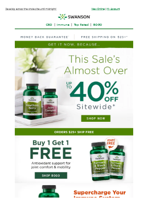 Swanson Health Products - ★ ENDS TODAY ★ Get up to 40% off sitewide now