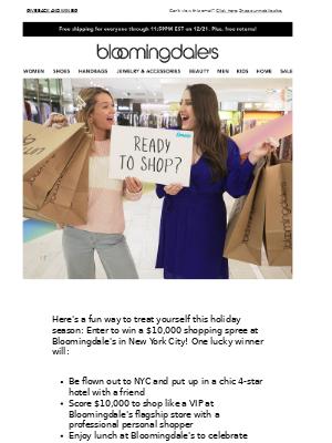 WIN a $10,000 shopping spree!