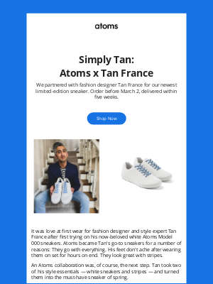 Atoms - Now Available: Atoms x Tan France