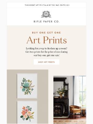 Buy One Art Print, Get One Free!