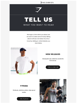 Gymshark - So... what will we talk about?