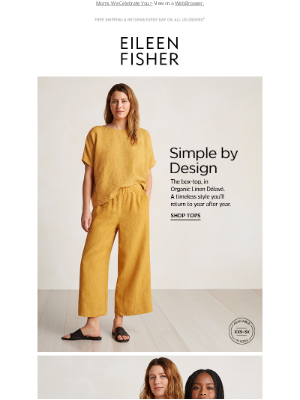 EILEEN FISHER - Simple by Design. The Box-Top.