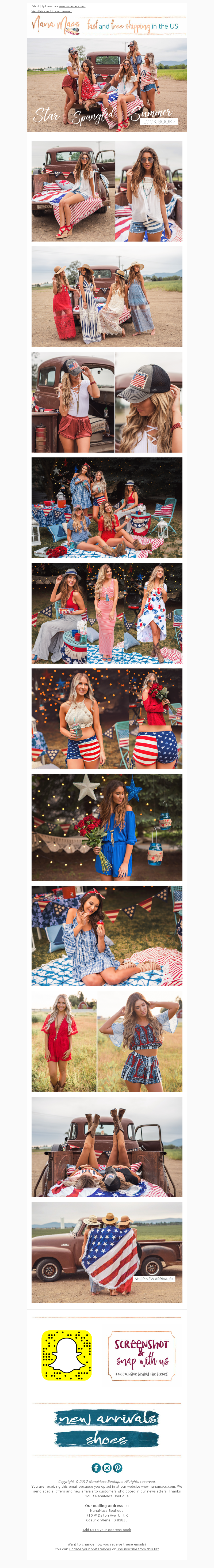4th of July Looks! >>www.nanamacs.com View this email in your browser Copy
