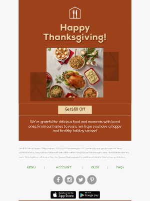 Home Chef - Happy Thanksgiving from Home Chef!