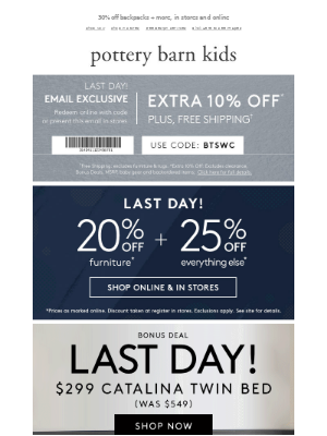 Final Day: up to 50% off + your EXTRA discount end tonight.