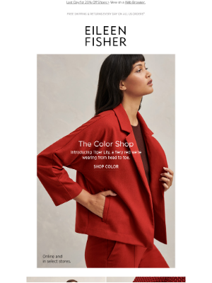 EILEEN FISHER - Tiger Lily. Our Fiery Red.