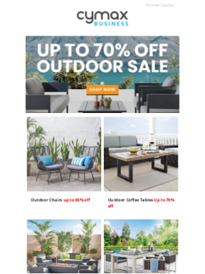 Cymax - Summer Outdoor Sale - Up to 70% off