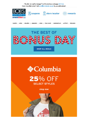 Bob's Stores - 💡 Bonus Day - Best Deals 💡