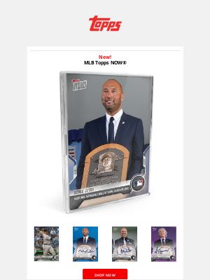 The Topps Company - The Captain enters the Hall of Fame!