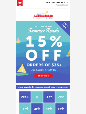 Extra 15% Off Sailing Your Way!