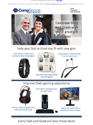 CompSource - Get your dad or grad the best gift this year!