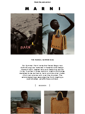 INTRODUCING THE MARCEL SUMMER BAG