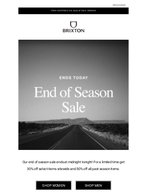 Brixton LLC - Our sale ends today!