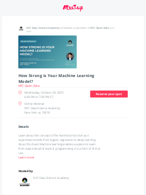 Meetup - 📣 Just scheduled: How Strong is Your Machine Learning Model?