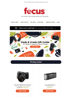 Focus Camera - Dads & Grads Gift Ideas 👨🎓 | Shop now & save up to 25%