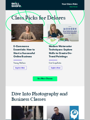 Skillshare - Your Personal Class Recommendations
