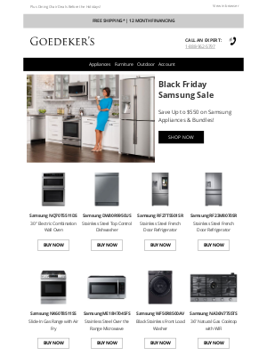 Goedeker's - Did Somebody Say Samsung? Save Up to $550!