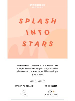 Ahh, summer: relaxing, cool drinks and 150 Bonus Stars.
