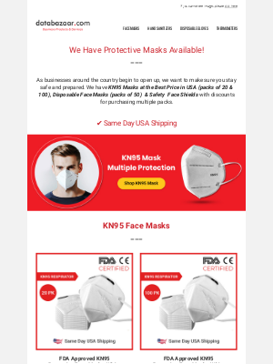 Cheapest PPE In USA | KN95 Masks, Disposable Face Masks, Face Shields
