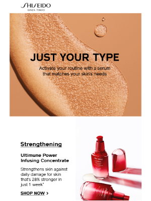 Shiseido - Find The Right Serum For Your Routine