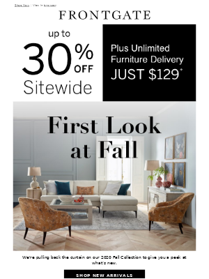 Frontgate - Come see what's new for Fall.