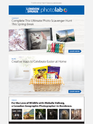 London Drugs (CA) - Check out our fun Photo Scavenger Hunt this Spring Break!