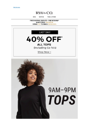 RW&CO. CA - Run, don't walk! Up to 70% off NEW markdowns
