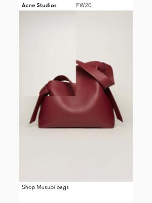 Acne Studios - Musubi bags for Fall/Winter 2020