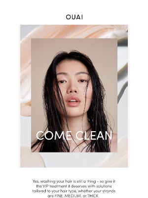 OUAI HAIRCARE - Can we just wash 2020 away?